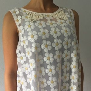 Free people daisy sequins top